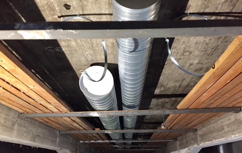 Arbeidet med ventilasjonsanlegget påbegynnes